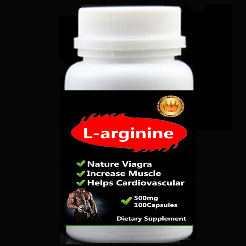 Nature Viagra L-arginine capsules 500mg x 100pcs Increase Muscle Fitness Improve the Quality of Sperm help cardiovascular