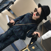 Children Clothing Sets Autumn Red Green Plaid Sets For 5 6 7 8 9 10 11 12 Years Old Girls Sportswear Casual Children Suits