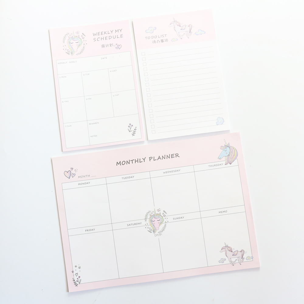 student monthly planner