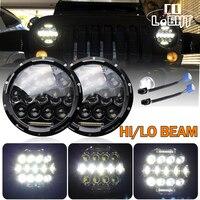 CO LIGHT Led Headlight 7 Inch 75w 35w H4 H13 Hi Lo Beam The Daytime Running