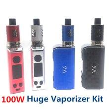 New Electronic Cigarette 40W 80W 100W Adjustable Vape Mod Huge V6 kit 2200mah Battery 2ml 0.2ohm tank e cigarette Atomizer vapor