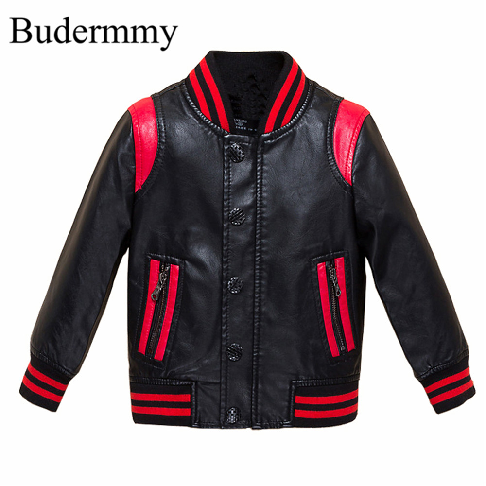 Jackets for Boys Leather Jackets 2017 Brand Fashion Autumn Cotton infant Boy Jackets for 3 4 5 6 8 10 12 Years Kids Clothes Tops