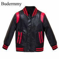 Jackets For Boys Faux Leather Jackets 2017 Brand Fashion Autumn Cotton Infant Boys Jackets For 2