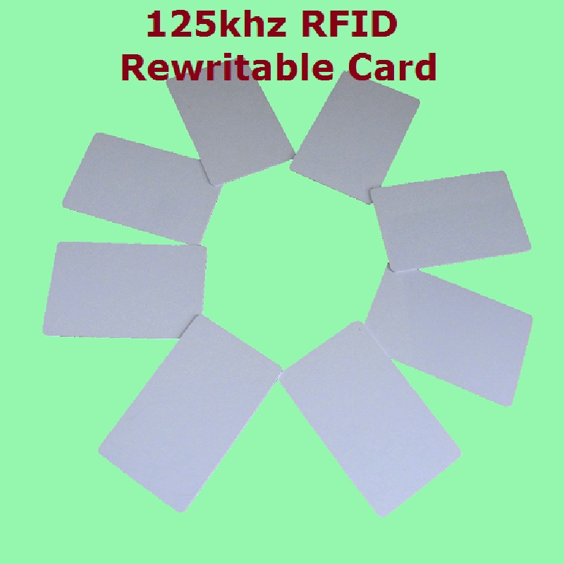 10pcs/Lot Proximity RFID 125khz Writable Rewritable T5577 5200 Smart Blank Thin ID Card + Free Shipping+ Fast Delivery