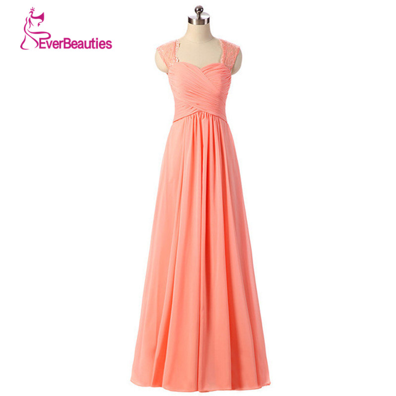 Vestidos Madrinha   Bridesmaid     Dresses   Long Lace Straps Colorful A Line Pleated Chiffon Wedding Party   Dress   2019 New Arrival
