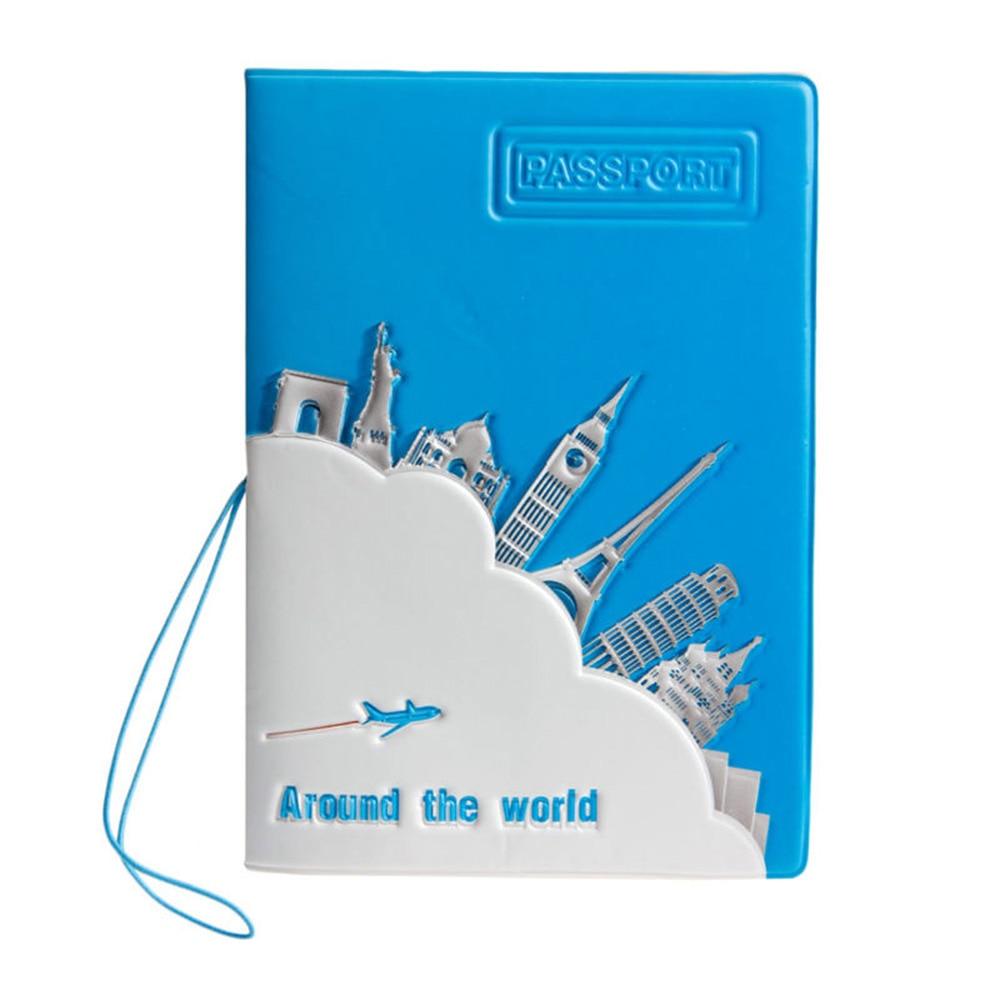 Unisex Journey Travel World Passport Holder ID Credit Card Case Cover Bill Ticket Protector Women Men Travel Accessories