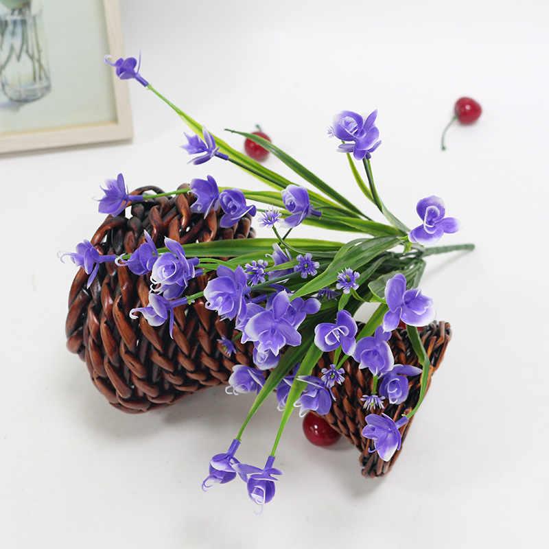 البلاستيك الزهور الاصطناعية الرقص orchidea زهرة زينة باقة متعدد الألوان العشب مصنع المنزل غرفة نوم الزفاف الديكور