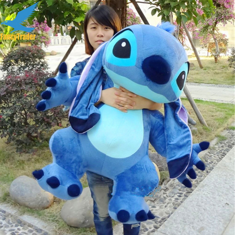 Flounder Stuffed Animal, Fancytrader Real Pictures 35 Jumbo Giant Stitch Plush Stuffed Soft Cute Toy 90cm Nice Gift For Kids Free Shipping Giant Stitch Plush Plush Stuffedgiant Stitch Aliexpress
