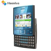 100% Оригинальный разблокирована слайдер Nokia X5-01 мобильного телефона gsm 900/1800 Dual Band использовать условия