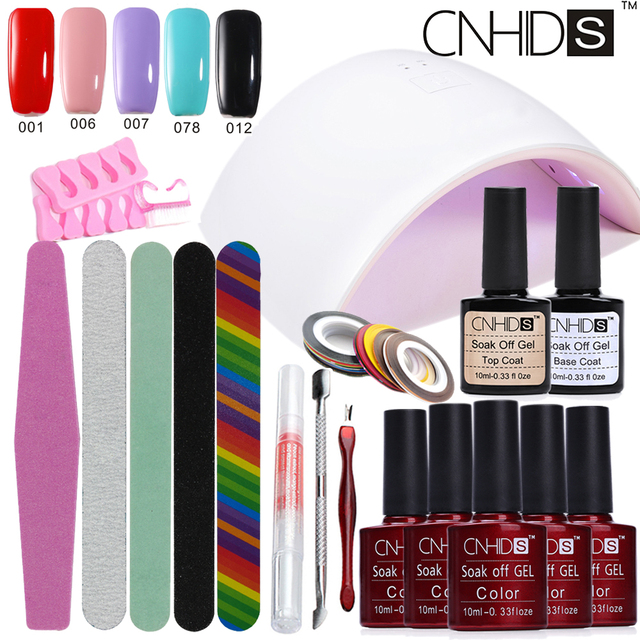 Manicure Set Nail Gel Sun UVLED Nail Lamp Dryer Soak Off Gel Nail ...