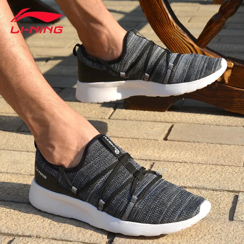 Li-ning hommes fantaisie style de vie élégant chaussures Textile doux respirant baskets loisirs soutien doublure chaussures de Sport AGLM003 YXB046 - 2