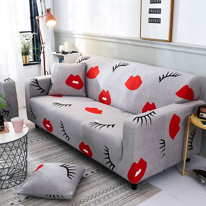 Red Lips Sofa Cover Elastic Cotton Wrap All Inclusive Sofa Covers For  Living Room Chair Couch Cover Loveseat Furniture Protector Small Chair  Slipcover ...