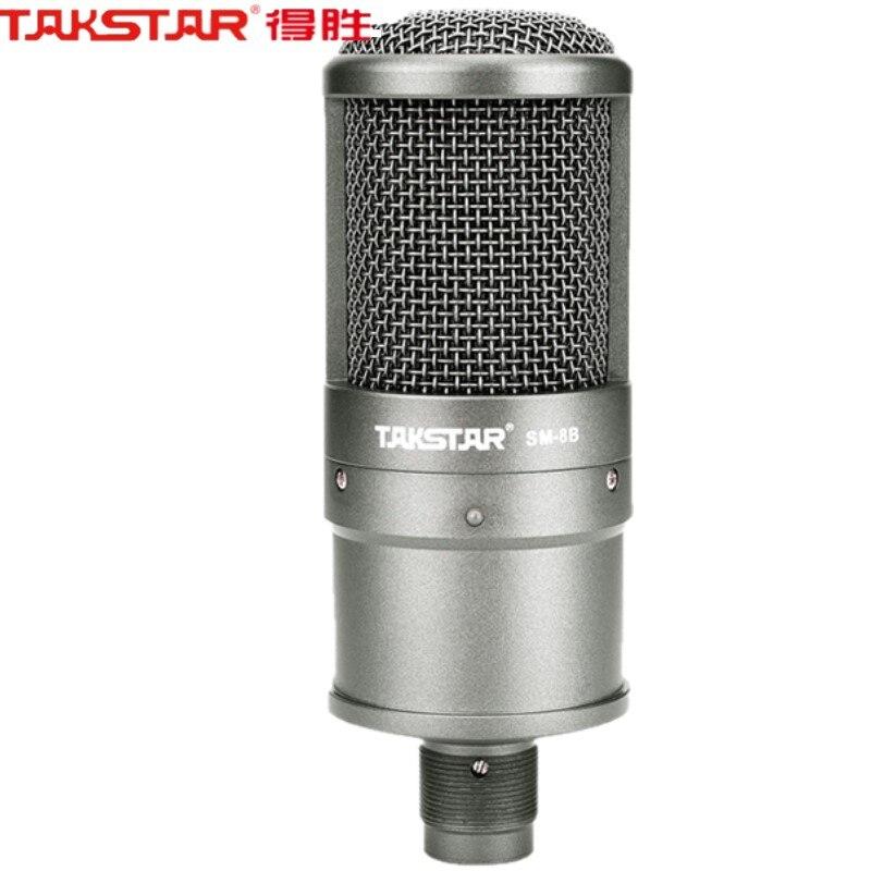 Top Quality Takstar Sm-8b Microfono A Condensatore Registrazione Del Microfono Del Computer La Canzone Con Una Scheda Audio, Senza Valigia