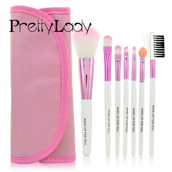 FOCALLURE 7Pc Professional Makeup Brush Set Kit Cosmetic Brushes Tools Make Up Maquiagem Foundation Powder Blush Eyeliner 1 o two o makeup brush set make up foundation powder blush eyeliner brushes cosmetic tools 5 pcs brush