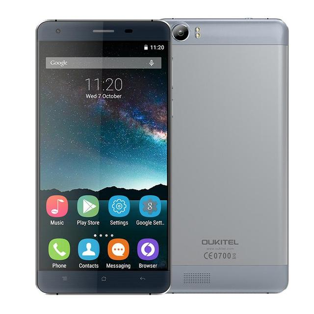 "In stock Original OUKITEL K6000 5.5""Inch HD 6000mAh Android 5.1 Dual Sim FDD-LTE Smartphone MTK6735P Cellphone 2GB +16GB 13.0MP"