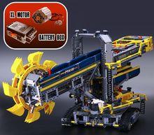 Новый Лепин 20015 техника серии 3929 шт. Роторный экскаватор модель строительные блоки Кирпич совместимые 42055 игрушка Рождественский подарок
