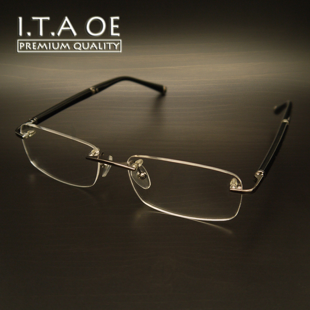 Itaoe mb374 estilo negócio marca liga titanium men masculino óculos de armações de óculos óptica óculos de leitura miopia