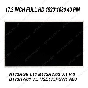 Substituição completa tela hd 17.3 para msi gs70 gt70 gx70 3cc gl72 gs72 ge70 gt72 painel 1920*1080 40 pinos exibição