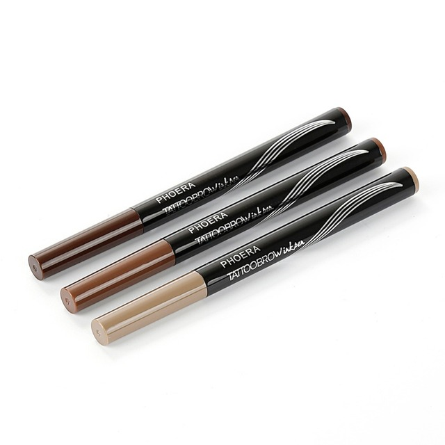 PHOERA  Double Head Eyebrow Pencil  Tattoo Pen With Brush 1