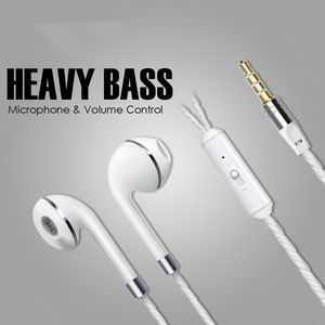 Image 5 - M & j com fio fone de ouvido para iphone 6s 6 5 xiaomi mãos livres fone de ouvido baixo fones estéreo para iphone samsung