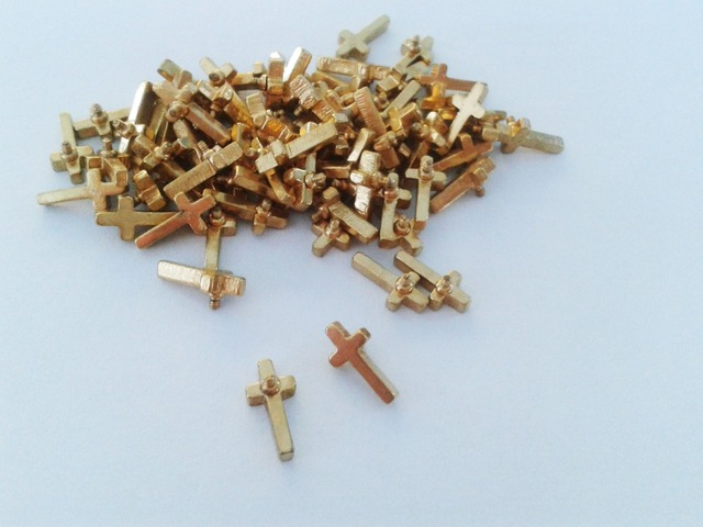 Newest 16g surgical steel gold dermal anchors cross top skin diver