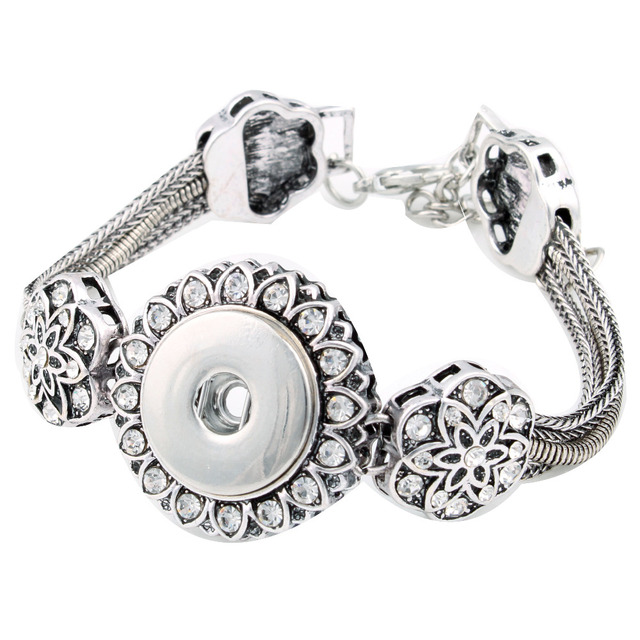 Fashion Snap Bracelet adjustable Button jewelry for heart xinnver snap bracelet in charm bangel fit 18-20mm snaps 1