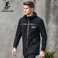 Pioneer Camp New Spring Long Jacket Men Brand Clothing Fashion Black Jacket Coat Male Top Quality