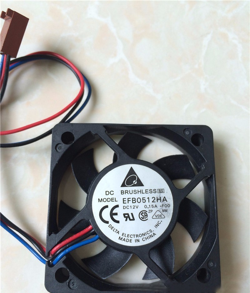 For Delta EFB0512HHA 5cm 50x50x10mm DC 12V 0.20A 3-pin Computer Pc Case Server Inverter Axial Cooler Cooling Fan