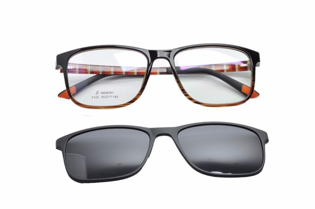 17222efeb9e EV Glasses Frame Sunglasses Clip Magnetic Polarized Myopia Driving Glasses  Polarized Sunglasses Clip On Dual Purpose