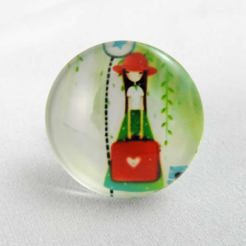 Bán buôn Vintage 25 mét 15 cái/lốc Oval Rõ Ràng Glass Cameo Cabochon Dễ Thương Cô Gái Dome Jewelry Finding Glass Dome Flat Lại 38726