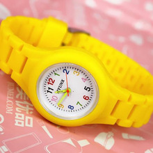 Hot Sell 2015 New Fashion Watches Cute Students Jelly Silicone Wristwatches Kids Children Watches Cartoon
