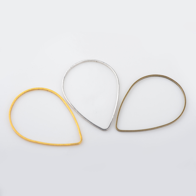 50PCS 30*21MM Brass Gold Color Drop Closed Rings Jump Rings For Jewelry Making Findings Accessories