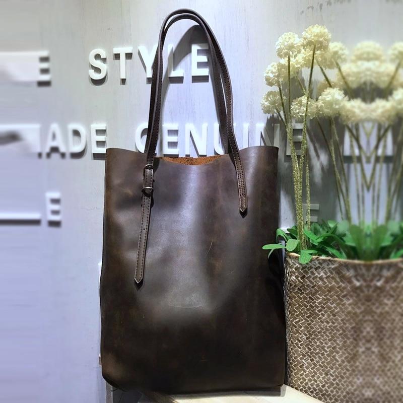 ФОТО Vendange retro female concise vertical type handmade leather shoulder bag/ handbag 2112