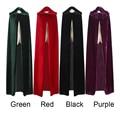 Envío Gratis Adultos Bruja Larga Púrpura Verde Rojo Negro Capas Capucha y Cabos de Halloween Disfraces de Halloween para Las Mujeres de Los Hombres