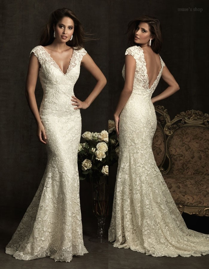 Aliexpress.com : Buy Vintage Lace Wedding Dress Beige Mermaid ...