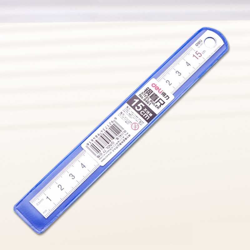 Deli Stainless Steel 15cm Metal Ruler Straight Ruler Measuring Scale Art Accessories Stationery Sotre Office School Supplies
