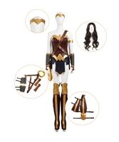 Индивидуальный заказ чудо женщина Диана Косплэй костюм полный набор парик Обувь крышка в комплекте