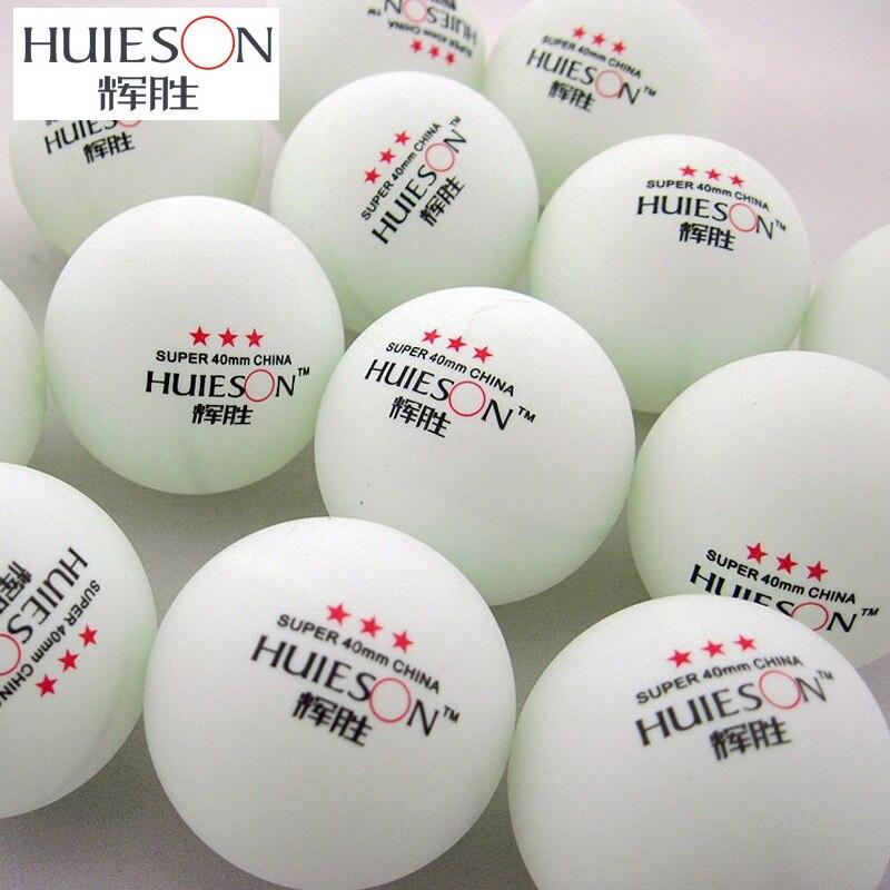 HUIESON 50pcs/Bag Exclusive Super 3 Star Table Tennis Balls 40mm+2.9g Ping Pong Ball Adult Club Training Table Tennis Balls