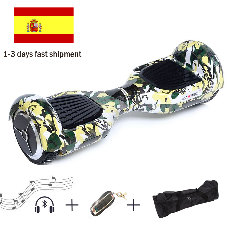 6.5 Inch Hoverboard Self Balance Electric Scooters Patinete Electrico Hoverboard Electric Scooter Gyroscope Electric Skateboard self balancing scooters hoverboard 10 inch tires bluetooth electric scooter gyroscope two wheels france stock with bag