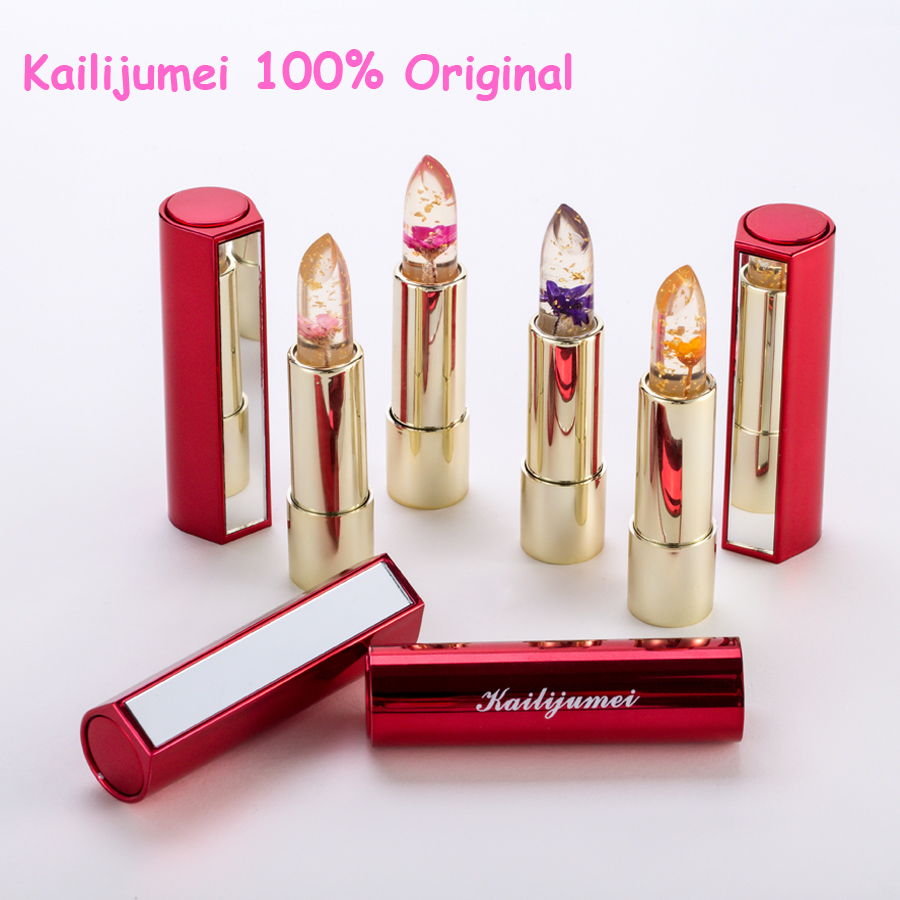 Brand Kailijumei Lipstick Magic Color Temperature Change Moisturizer Lipstick original beautiful jelly flower lipstick