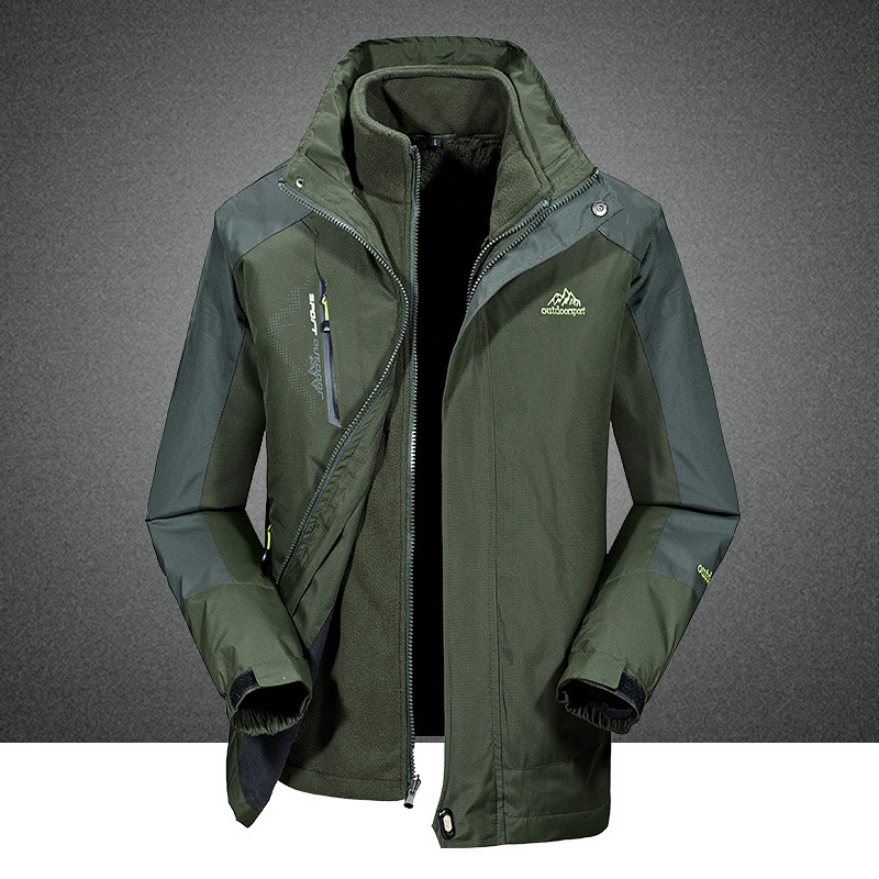 Afs Jeep / Battlefield Jeep Autumn Winter Men's Waterproof Mountaineering Jackets Jackets Men's Cotton Jackets