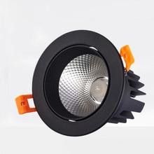 цена на High Quality Epistar LED COB Recessed Downlight Dimmable 10W LED Spot lamp Dimming Ceiling Lamp light 110v 220v