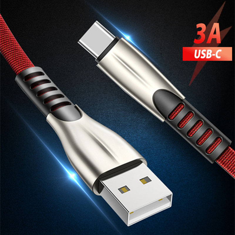 1/2/3 Meter Long Usb Type C Charging Cable Cord C Type Usb 3.1 Cable Cabo Tipo C for Samsung A3 A5 A7 2017 S10 A50 A30 Huawei usb cable