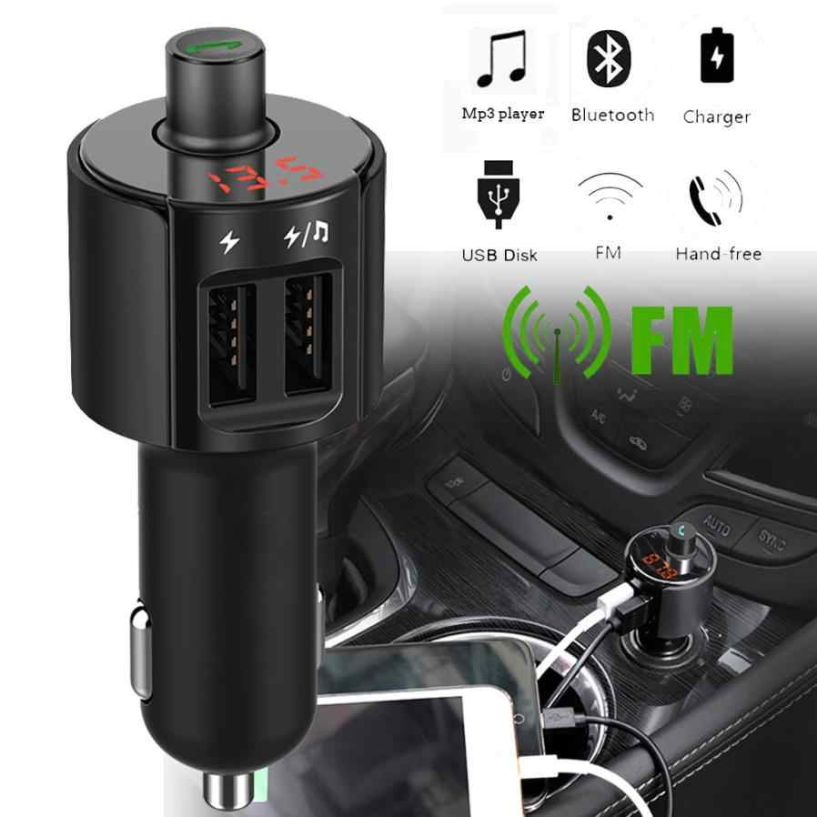 Hot Selling Bluetooth Car FM Transmitter Wireless Radio Adapter MP3 Player Plus USB charger