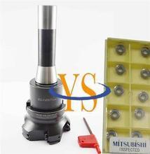 New R8 7/16  FMB27+EMR5R  80-27-6T face end mill +10pcs RPMT1003 Mitsubishi carbide insert mill