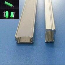 10/20/30/40 pcs 2m אלומיניום פרופיל עבור led הרצועה, שטוח קלטת אור ערוץ עם חלבי/שקוף כיסוי עבור 12mm pcb