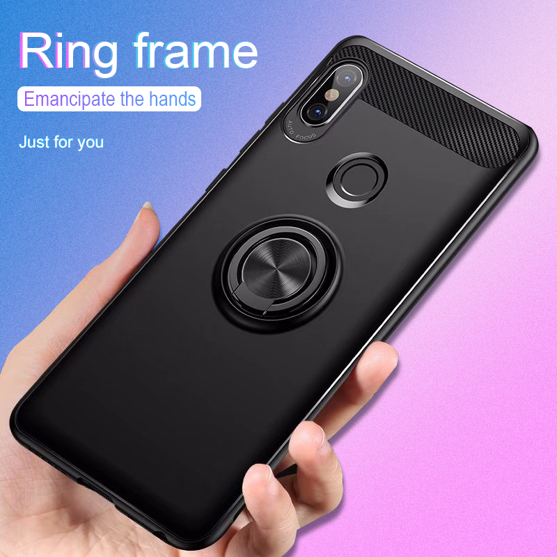 360 Protective Case For Xiaomi mix 2s Cover Bumper On The For Xiaomi Mix 2s Cases Soft TPU Silicone Shell With Ring Bracket