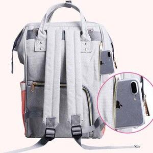 Image 5 - 기저귀 가방 어머니 배낭 대용량 여행 엄마 젖은 기저귀 가방 토트 출산 배낭 베이비 케어 유모차 가방 주최자
