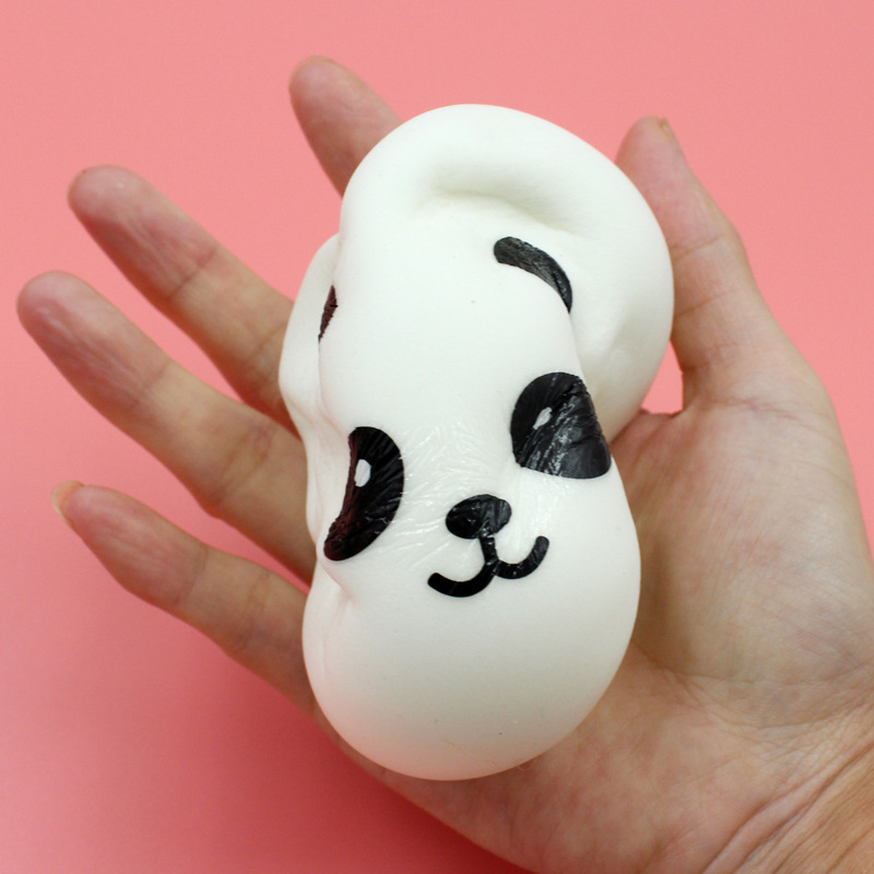 Universal 10cm Kawaii Soft Scented PU Squishy Jumbo Panda Slow Rising Squeeze Bun Toy Phone ...