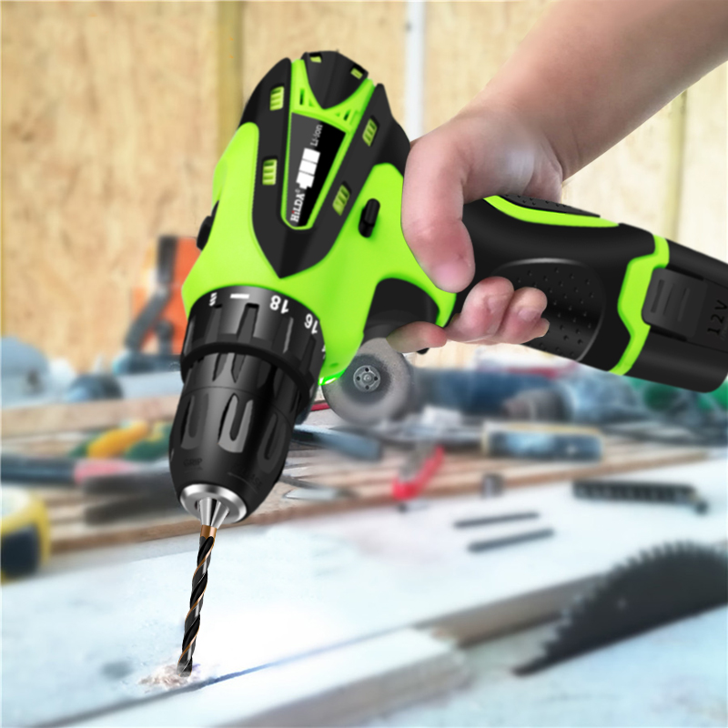 12V Electric Screwdriver Electric Drill Lithium Battery Rechargeable Parafusadeira Furadeira Multi-function Cordless Power Tools